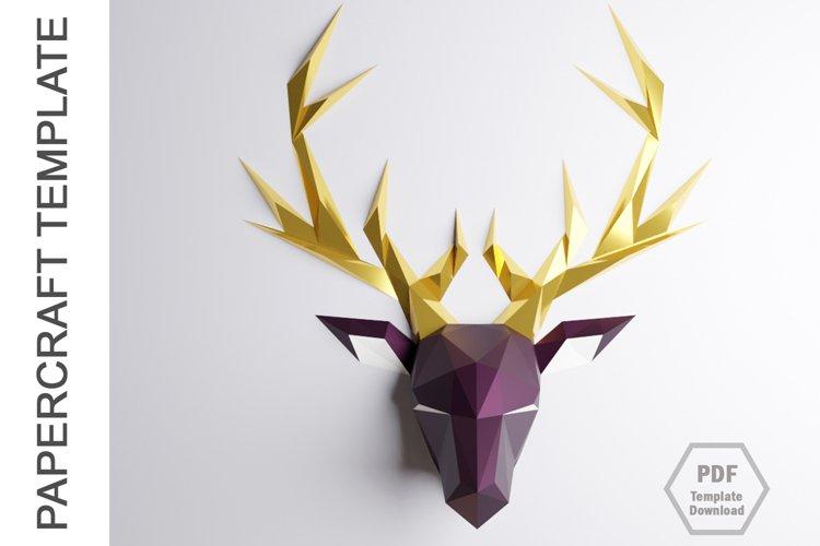 PDF Template Of Deer Papercraft /3D Papercraft example image 1