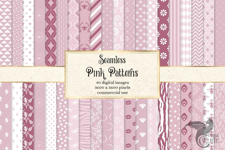 Pink Patterns Digital Paper example