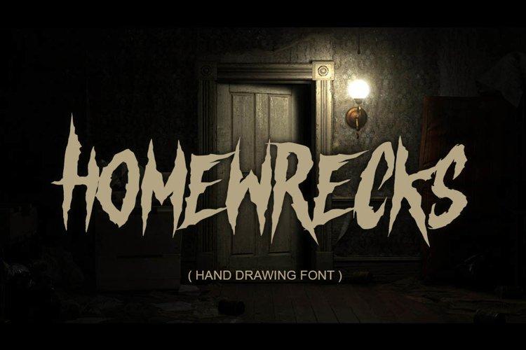 HOMEWRECKS - horror metal font - example image 1