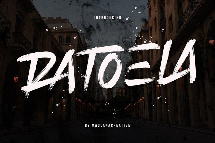 Ratoela Brush Font example image 1