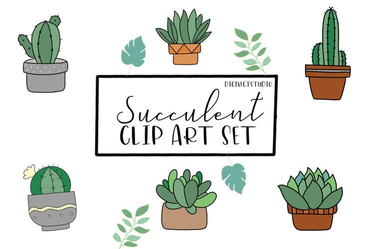 Succulent Vector / Clip art - Digital Scrapbooking