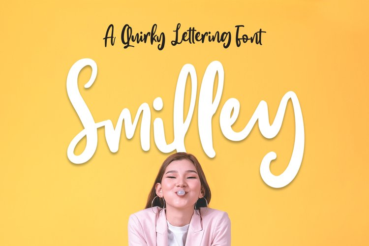 Smilley - Quirky Lettering Font example image 1