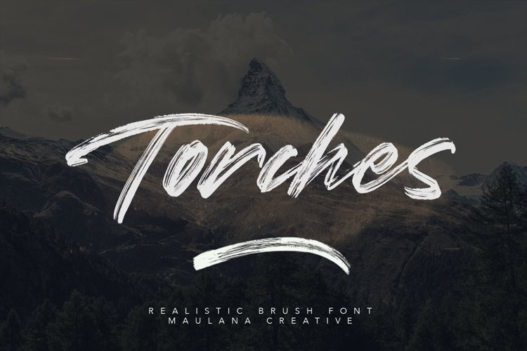 Torches Realistic Brush Font example image 1