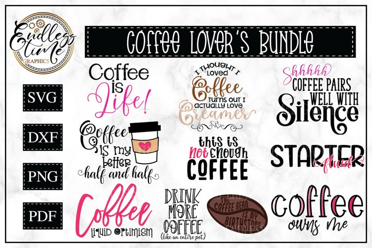 Coffee Bundle | 10 Funny Coffee SVG or Sublimation Designs example image 1