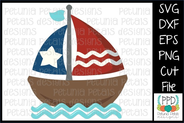 American Flag Sailboat SVG 11271 example image 1