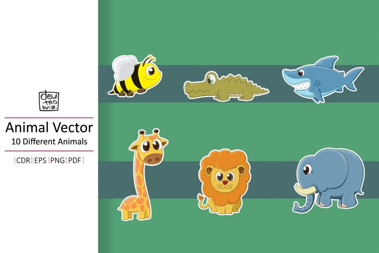 Hand Drawing Animals Vector - EPS CDR PDF PNG example image 1