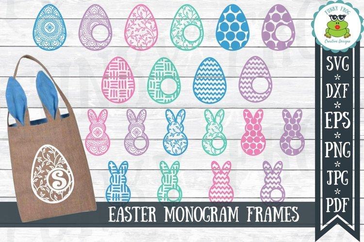 Easter Monogram Frame Bundle - Egg and Bunny SVG Cut Files