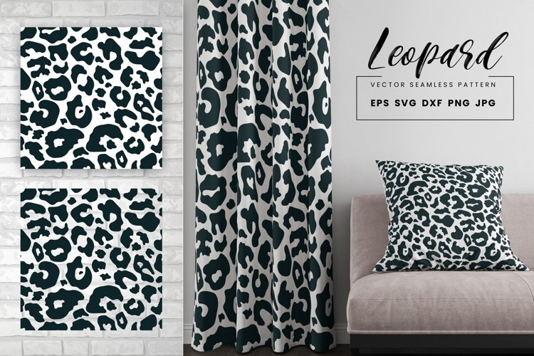 Leopard Print Seamless Pattern Repeat Animal Vector Texture