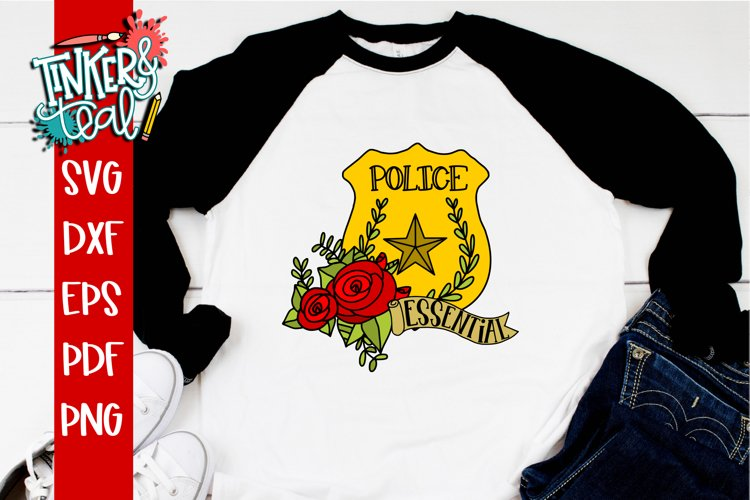 Essential Worker Police Cop svg example image 1