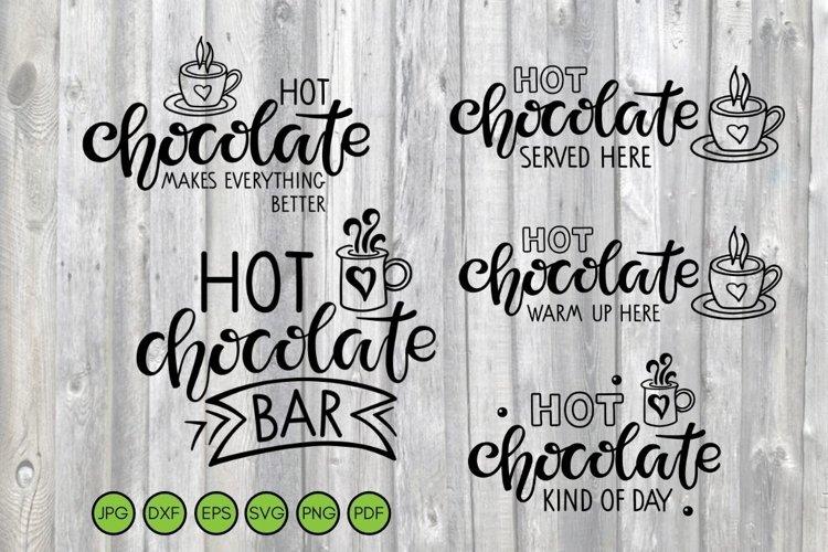 Hot Chocolate Bar Christmas Svg Sign Set. example image 1