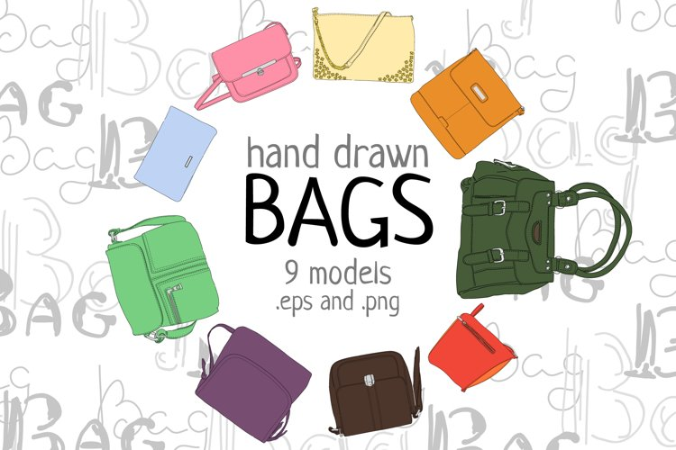 Hand drawn bags example image 1