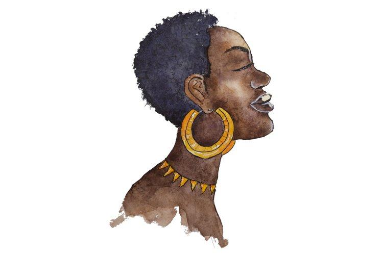 afro women png, portrait sublimation