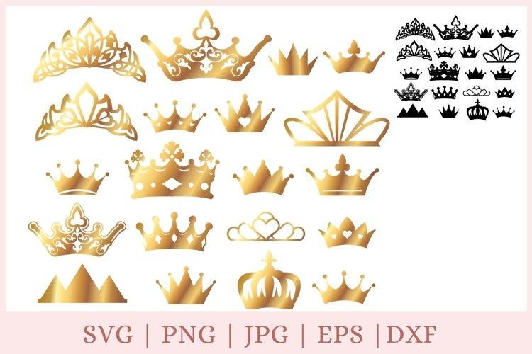 20 Gold Crown svg, princess svg, Tiara svg, crown clipart