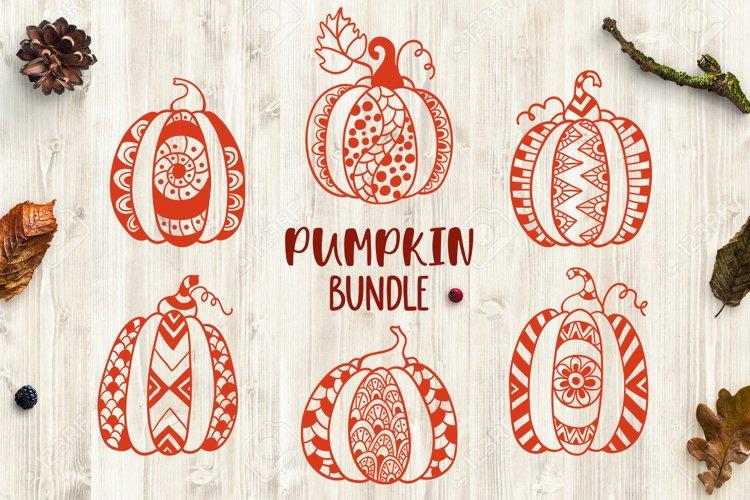 Pumpkin bundle svg. Pumpkin mandala clipart. Thanksgiving. example image 1