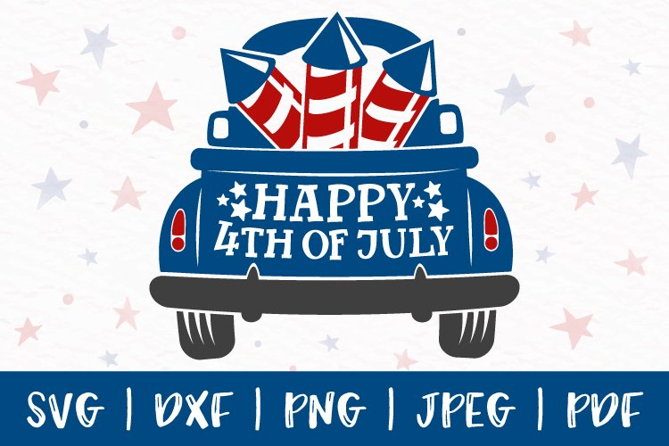 4th of july svg, 4th of july truck svg, truck back svg, png