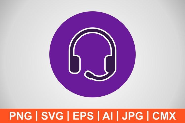 Vector Headphones Icon example image 1