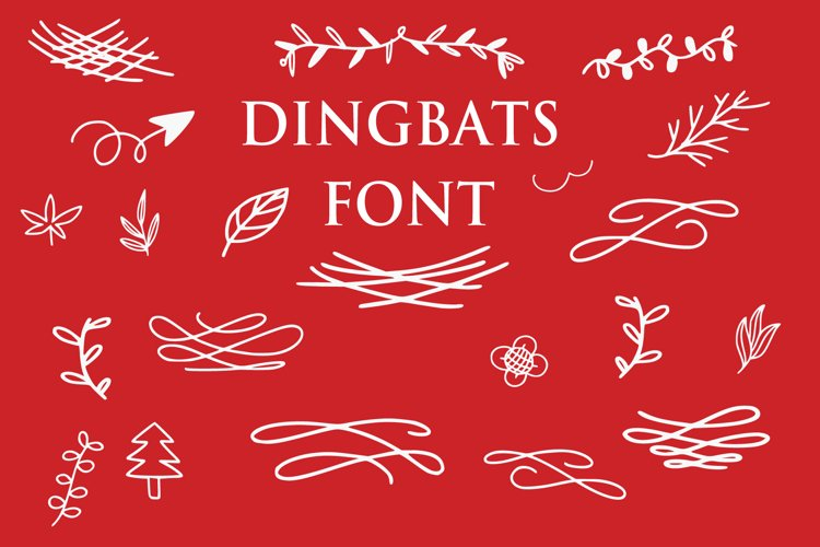 dingbats floral ornaments example image 1