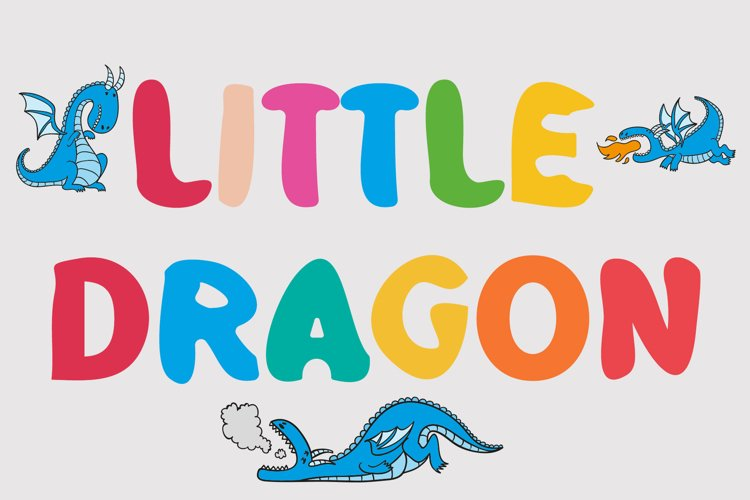 Little Dragon Comic Kids Font