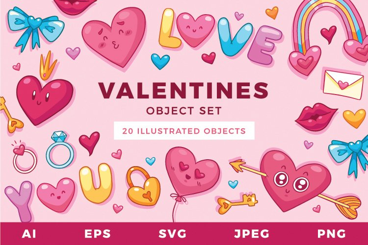Valentines Sublimation Set | Multipurpose Vector Objects