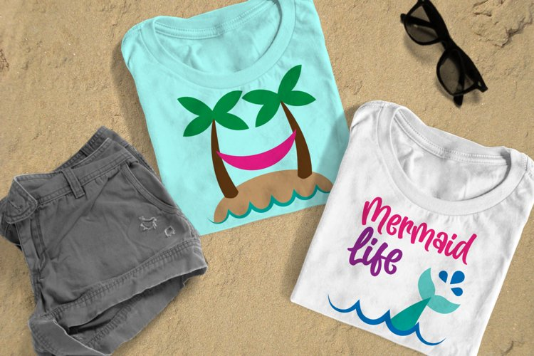 Hammock and Mermaid Beach Duo SVG Design