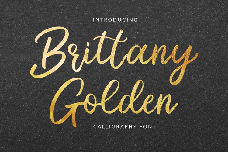 Brittany Golden - Calligraphy Script example image 1