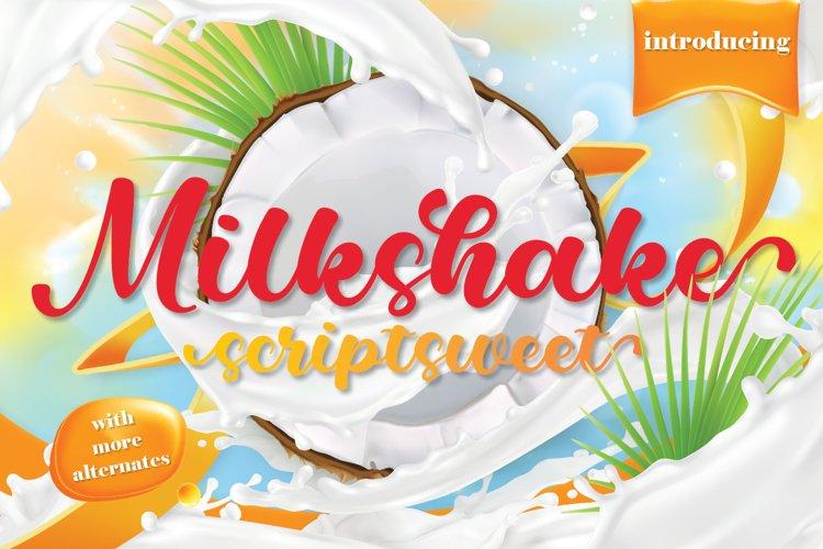 Milkshake Scriptsweet example image 1