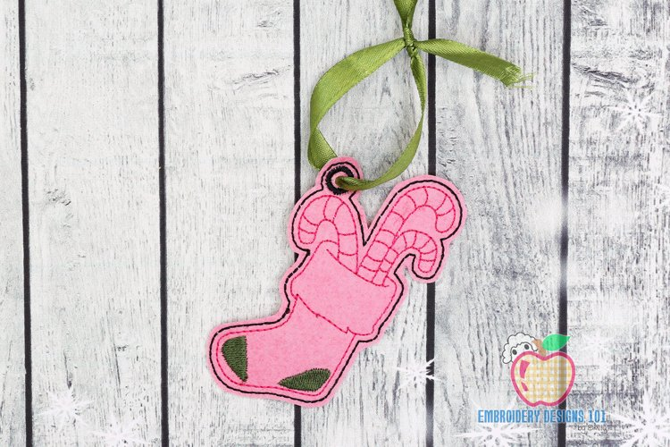 Christmas Stockings Ornament Embroidery example image 1