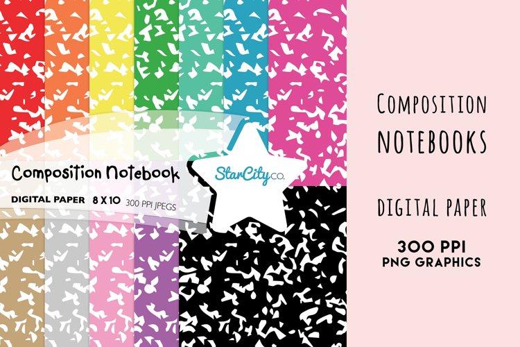 Composition Notebook Digital Paper, School Background