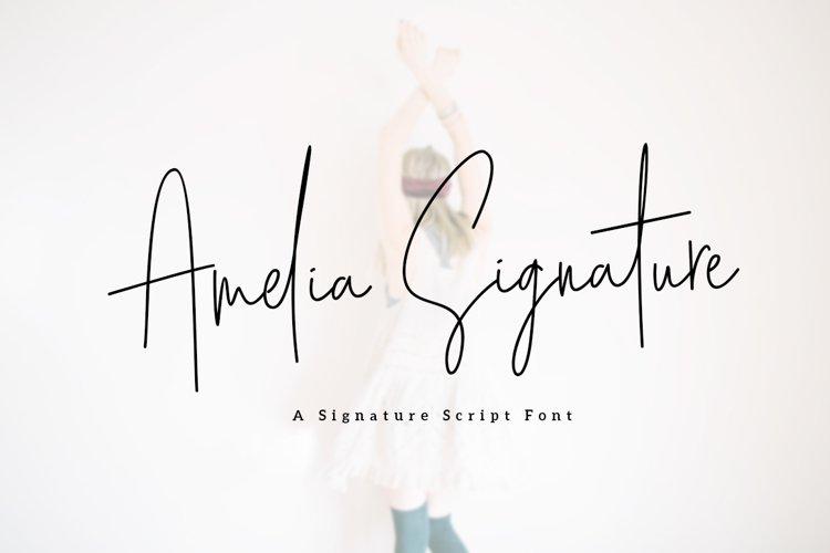 Amelia Signature example image 1