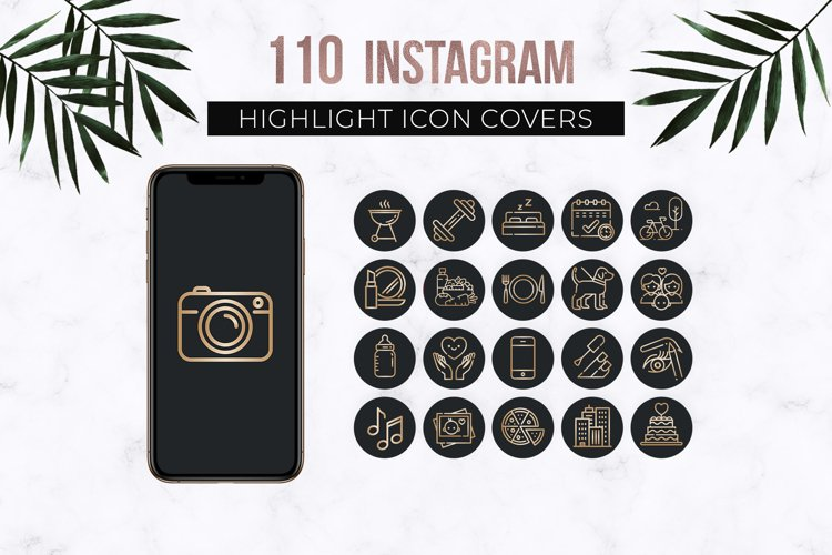 Black Instagram Highlight Icons