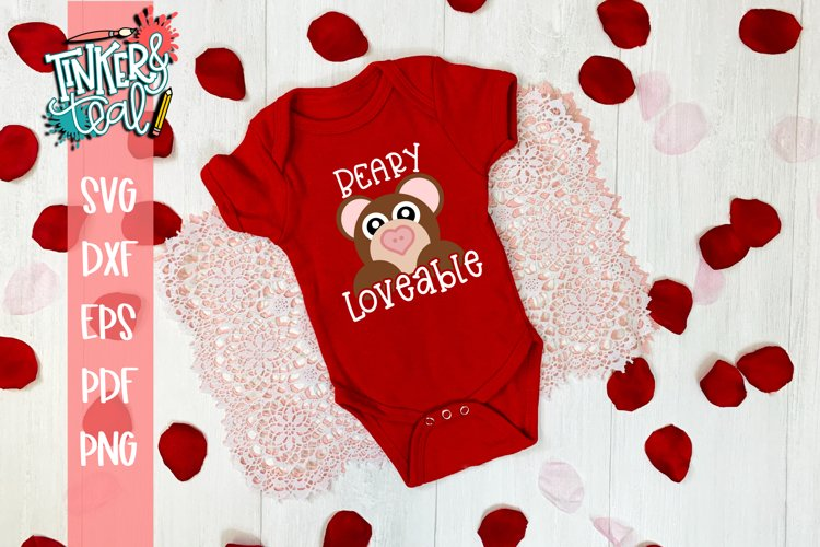 Beary Loveable Valentine SVG example image 1