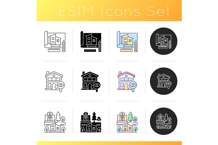 Building icons set example image 1