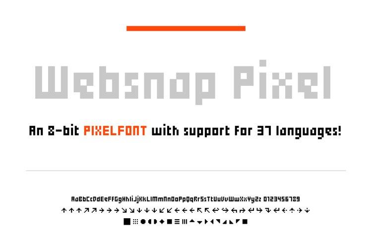 Websnap - Pixel Font example image 1