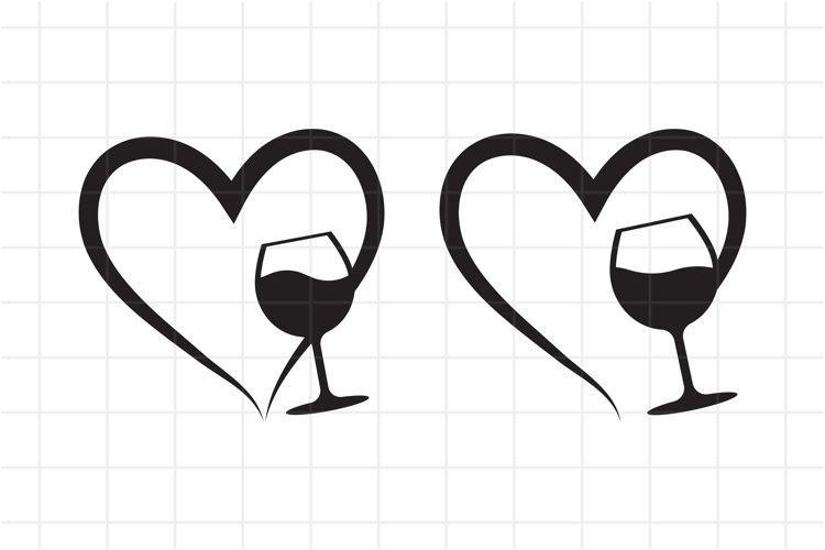 Download Wine Svg Alcoholic Drink Cut File Heart And Wine Glass 809239 Cut Files Design Bundles