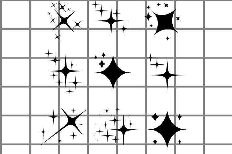 Sparkles or stars SVG set for cut. Space illustration.