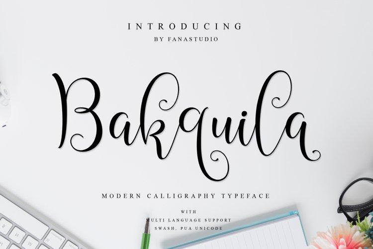 Bakquila Script example image 1