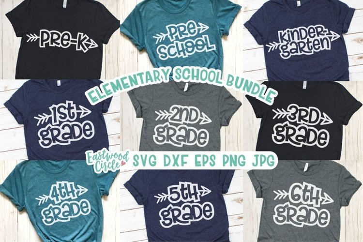 Elementary School SVG Bundle - Cut Files for Crafters example image 1