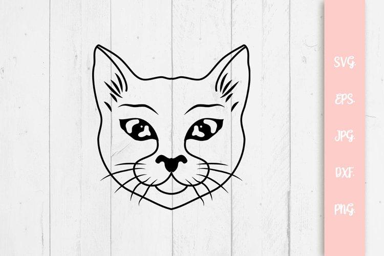 Sweet Cat Svg, Cat Cut File example image 1