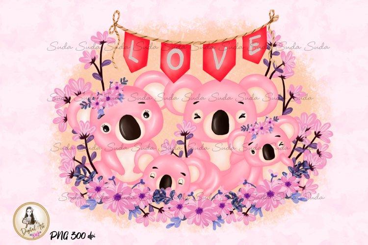 Koala Family Love Valentines Day
