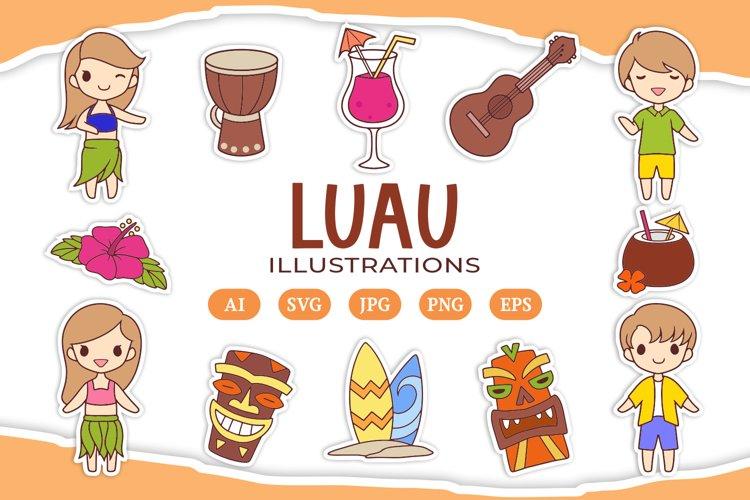 Luau Illustrations example image 1