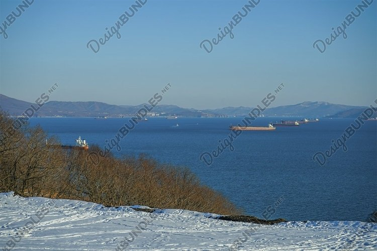 Natural landscape with a view of Nakhodka Bay