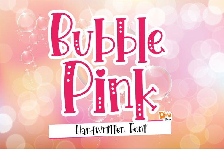 Bubble Pink - Crafty Handwritten Font Duo example image 1