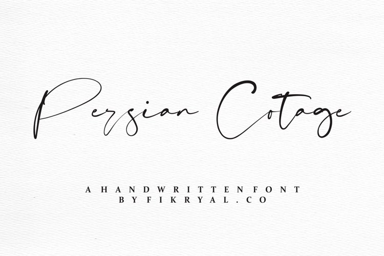 Persian Cotage - Handwritten font example image 1