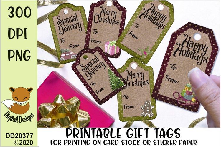 Printable Christmas Gift Tags PNG