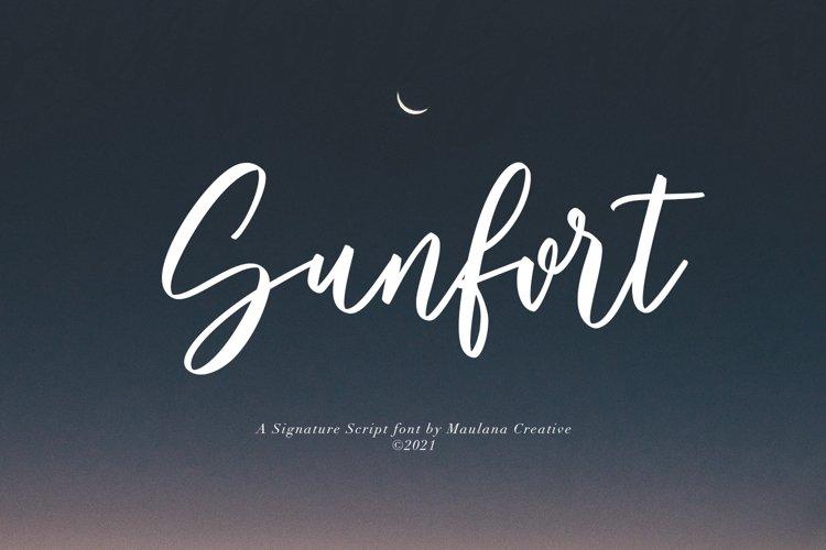 Sunfort Signature Script Font example image 1