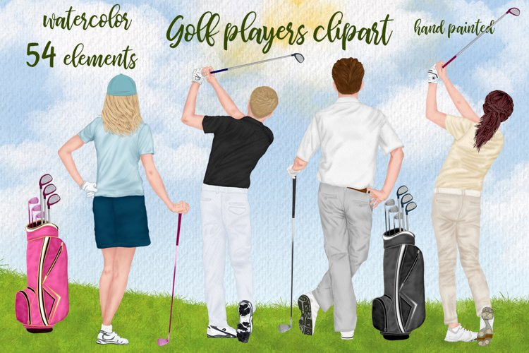 Golf clipatrt Golfer clipart Golf players Clipart, Golf Bag example image 1