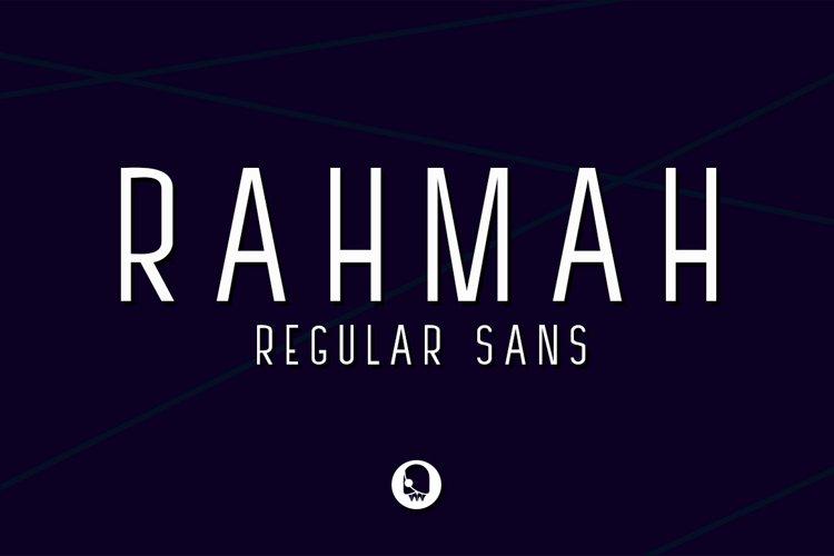 RAHMAH REGULAR SANS example image 1