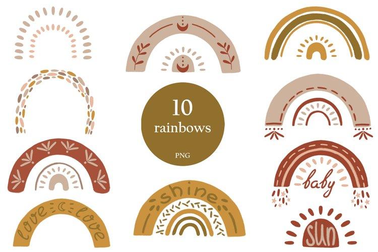 Textural BOHO rainbows example image 1