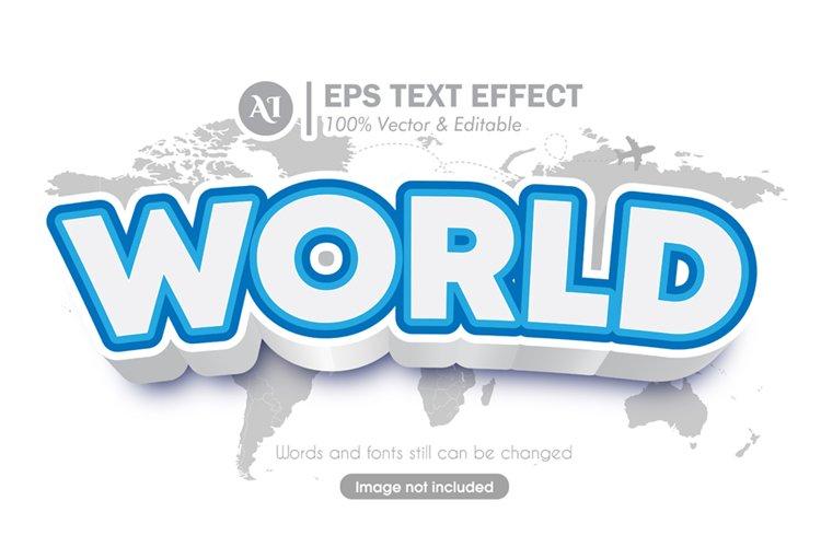 World Editable Illustrator 3D Text Effect