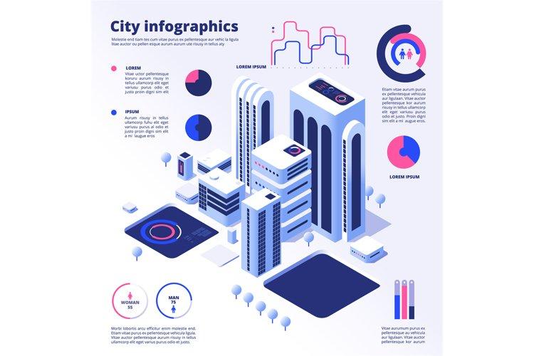 City smart infographic. Urban digital innovation future offi example image 1